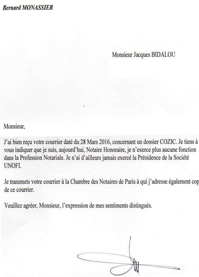 Bernard Monassier Notaire Villarceaux  Syndicat Des Justiciables